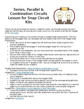 Series, Parallel & Combination Circuit Lesson for Snap Circuit Kits