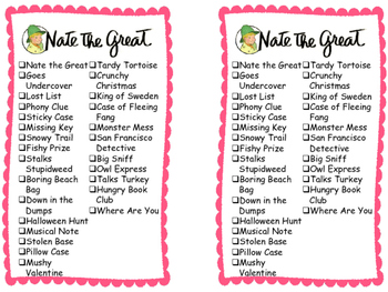 Series Reading Check List: Nate the Grat
