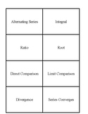 Series Tests for Convergence Card Sort
