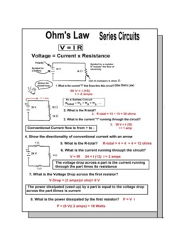 Circuits Electrical: Series and Parallel Bundled - 8 Worksheets at 40% Discount
