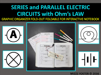 Series and Parallel Electric Circuits Graphic Organizer Foldable