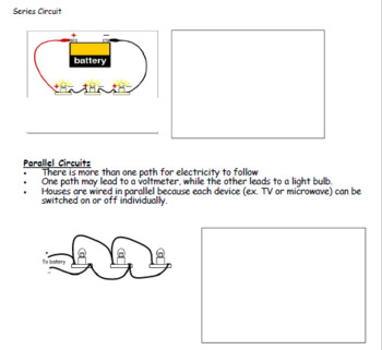 Series and Parallel Circuits: Student Note & Teacher Version