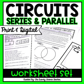 Series and Parallel Circuits Worksheet Set by The Trendy ...