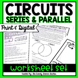 Series and Parallel Circuits Worksheet Set