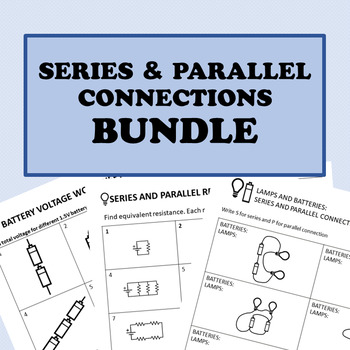Series and Parallel Circuits Worksheet Bundle