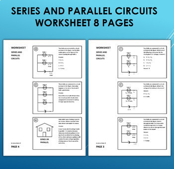 Series and Parallel Electric Circuits Worksheet - One in many ways