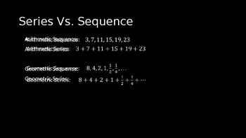 Series and Sigma Notation - PowerPoint Lesson (9.4)
