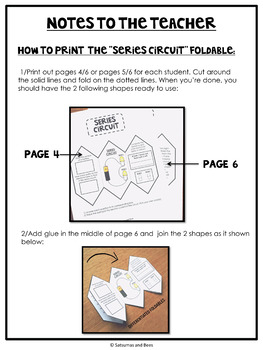 Series and Parallel Circuits-Interactive Science Notebook foldables