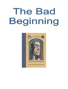 Series of Unfortunate Events Book Posters~Read Aloud, Grades 4 and 5
