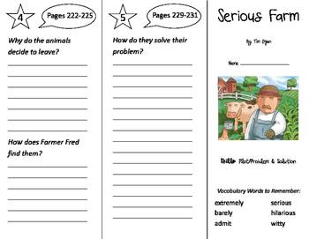 Serious Farm Trifold - Storytown 2nd Grade Unit 5 Week 2