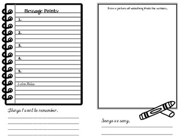 Sermon Note for kids. Template Set 3