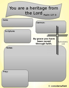 Sermon Notebooking Page