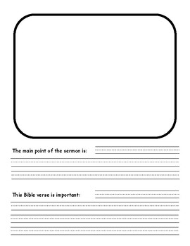 Sermon Notes Forms for Kids
