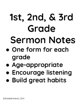 Sermon Notes Worksheets & Teaching Resources | Teachers Pay