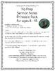 Sermon Notes Printable Pack for PreTeens- No Prep