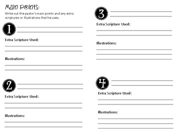 Sermon Notes for kids. Template Set #2