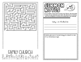 Sermon Notes for Kids (Grades K-4)