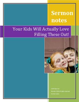 Sermon Notes for Older Kids