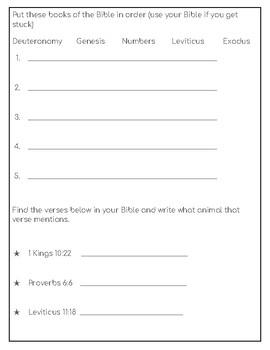 Sermon Notes for Pre-Teens (1 week)