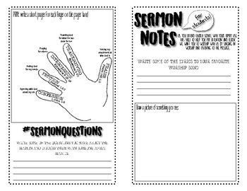 Sermon Notes for Students (Grades 5-12)