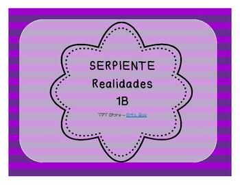 Serpiente (Board Game) Realidades I - 1B