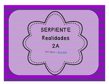 Serpiente (Board Game) Realidades I - 2A