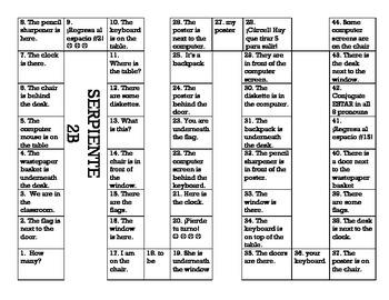 Serpiente (Board Game) Realidades I - 2A & 2B bundle