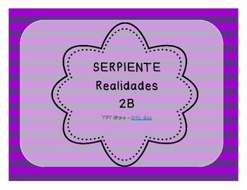 Serpiente (Board Game) Realidades I - 2B