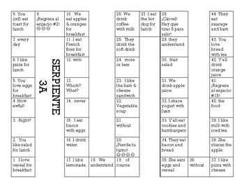 Serpiente (Board Game) Realidades I - 3A