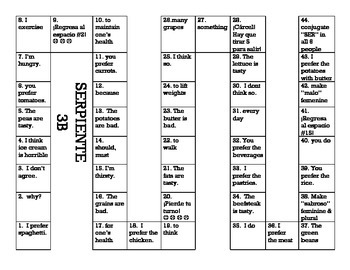 Serpiente (Board Game) Realidades I - 3A & 3B bundle