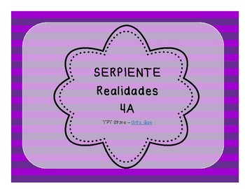 Serpiente (Board Game) Realidades I - 4A