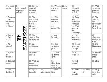 Serpiente (Board Game) Realidades I - 4A & 4B bundle