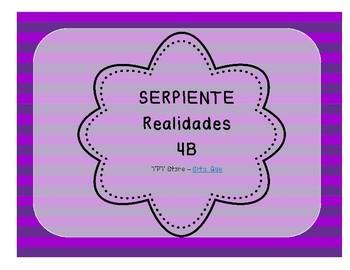 Serpiente (Board Game) Realidades I - 4B