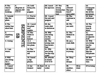 Serpiente (Board Game) Realidades I - 5A & 5B bundle