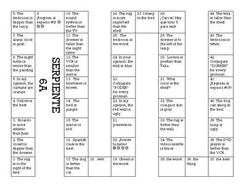 Serpiente (Board Game) Realidades I - 6A & 6B bundle