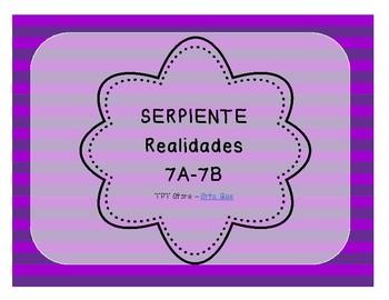 Serpiente (Board Game) Realidades I - 7A & 7B bundle