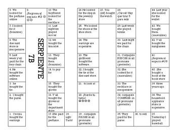 Serpiente (Board Game) Realidades I - 7B