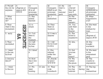 Serpiente (Board Game) Realidades I - 8A