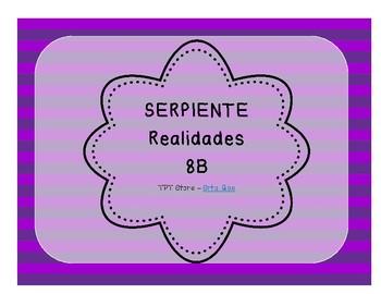 Serpiente (Board Game) Realidades I - 8B