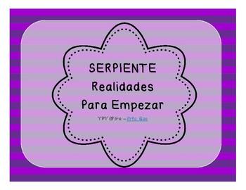Serpiente (Board Game) Realidades I - para empezar