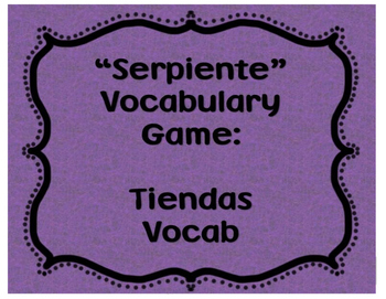 Serpiente Vocabulary Game: Tiendas Vocab