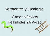Serpientes y Escaleras: Board Game to Review Realidades 2A Vocab