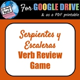 Serpientes y Escaleras Spanish Verb Review Game