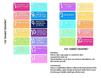 photograph about Printable Tabs identify Serravallo Reserve Tabs