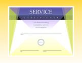Service Certificate