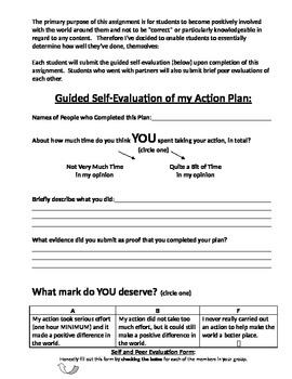 Service Learning Action Plan Assignment