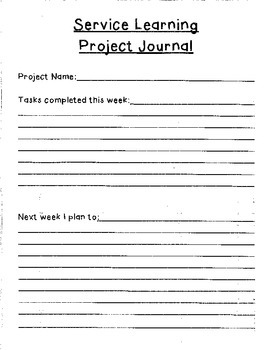 Service Learning Packet