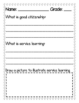Service Learning Prior Knowledge Questions