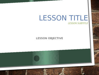 Community Service: Power Point Lesson and Templates
