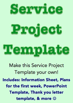 Service Project Template *Editable*